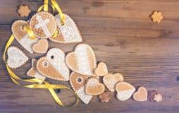 texture, fond, biscuits peints à la main, tulipes, saule, vieux b photographie stock