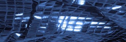 Texture, fond, modèle Tissu avec de grandes étincelles de c bleu photos stock