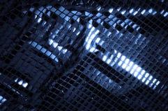 Texture, fond, modèle Tissu avec de grandes étincelles de c bleu photographie stock libre de droits