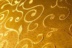 Texture, fond, modèle Tissu de damassé avec les modèles brillants Photographie stock libre de droits