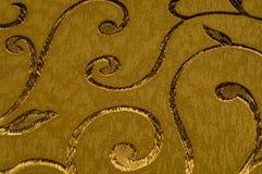 Texture, fond, modèle Tissu de damassé avec les modèles brillants Photo libre de droits