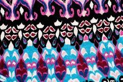 Texture, fond tissu tricoté modèle de noir de rouge bleu Thé Image stock