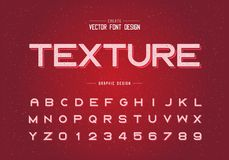 Free Texture Font And Alphabet Vector, Bold Typeface Letter And Number Design, Graphic Text On Grunge Background Royalty Free Stock Photography - 151505307