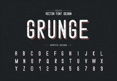 Free Texture Font And Alphabet Vector, Letter Style Typeface And Number Design, Graphic Text On Grunge Background Stock Photography - 151505272