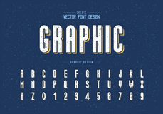 Free Texture Font And Alphabet Vector, Tall Typeface Letter And Number Design, Graphic Text On Grunge Background Stock Image - 151505411