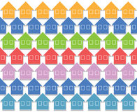 Pastel color houses Stock Photos