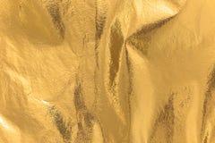 Texture fortement détaillée d'un ther miroitant jaune d'or rouillé image libre de droits