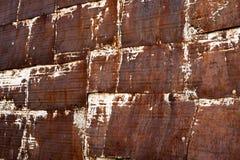 Texture fortement rouillée en métal photographie stock libre de droits