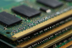 Texture of four Random Access Memory for servers Royalty Free Stock Photo