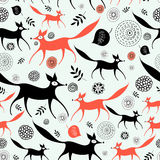 Texture of foxes stock illustration