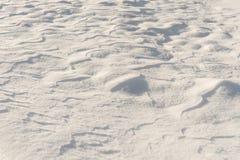 Texture fraîche de neige Images libres de droits