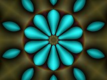 Texture, fractal pattern. Photo of abstract horizontal image,gradient image, of abstract aqua blue ,as a kaleidoscope; on green horizontal, to beautify a Stock Photography