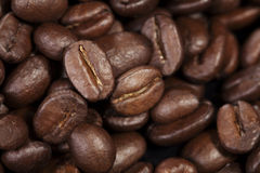Texture of freshly roasted coffee beans Stock Photo
