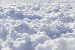 Texture friable profonde de neige dans la perspective Image stock