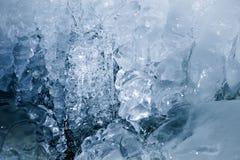 Texture of a frozen ice Stock Photos