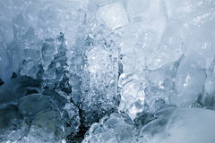 Texture of a frozen ice Royalty Free Stock Photos