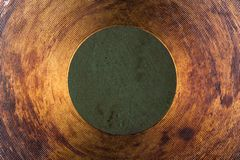 Texture of the frying pan bottom Royalty Free Stock Photos