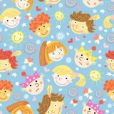 Texture of fun portraits of children Stock Images