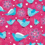 Texture funny birds stock illustration