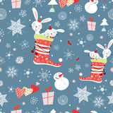 Texture funny bunnies Royalty Free Stock Photo