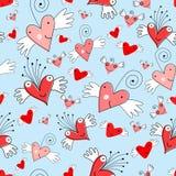 Texture funny hearts Stock Photo