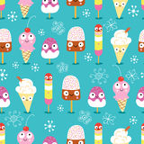 The texture of funny ice cream Royalty Free Stock Image