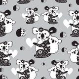 Texture funny koala Stock Photo