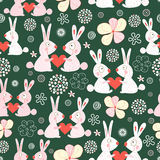 Texture funny love rabbits Royalty Free Stock Image