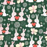 Texture funny love rabbits royalty free stock image