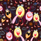 Texture of funny monsters Stock Photo