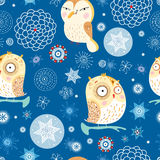 Texture funny owl Royalty Free Stock Images