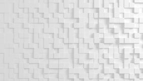 Texture géométrique abstraite des cubes aléatoirement expulsés Photographie stock libre de droits