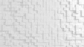 Texture géométrique abstraite des cubes aléatoirement expulsés Photos stock