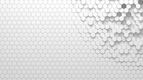 Texture géométrique abstraite des hexagones aléatoirement expulsés Photo libre de droits
