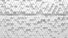 Texture géométrique abstraite des hexagones aléatoirement expulsés Images stock