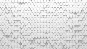 Texture géométrique abstraite des hexagones aléatoirement expulsés Images libres de droits