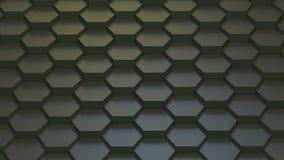 Texture géométrique abstraite des hexagones aléatoirement expulsés Photographie stock
