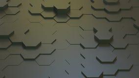 Texture géométrique abstraite des hexagones aléatoirement expulsés Photo stock