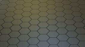 Texture géométrique abstraite des hexagones aléatoirement expulsés Photographie stock libre de droits