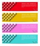 Texture géométrique de bannière Conception de fond de vecteur, dos de site Web Photo libre de droits