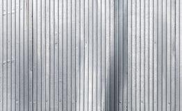 Texture galvanisée ondulée de mur en métal photo libre de droits