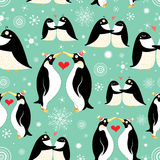 Texture of gay penguins vector illustration