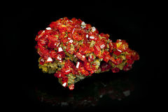 Texture of gem, red crystal Garnet Royalty Free Stock Photo