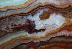 Texture of gemstone brown onyx and agat Stock Photos