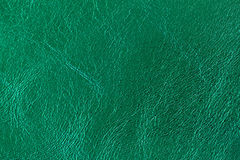 Texture of genuine leather close-up, fashion emerald color. For modern pattern, wallpaper or banner design. With place. Texture of genuine leather close-up Royalty Free Stock Images