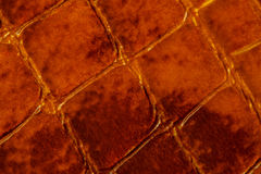 Texture of genuine patent leather macro, embossed under the skin a dark brown reptile. For modern pattern, wallpaper or. Texture of genuine patent leather close Stock Photo