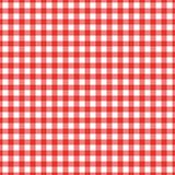 Texture Gingham seamless pattern. Red Checkered Textile products. Vector illustration squares or rhombus for fabric napkin plaid. Red Checkered Textile products stock illustration