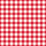 Texture Gingham seamless pattern. Red Checkered Textile products. Vector illustration squares or rhombus for fabric napkin plaid. Red Checkered Textile products Stock Photography