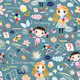 Texture of the girls and the fun things Royalty Free Stock Photography