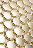 Texture gjorde från krönar lock royaltyfri bild